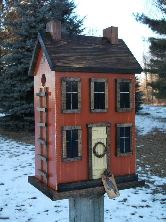Folk Art Primitive Saltbox House Rustic by HarmonsCountryCrafts, $74.99