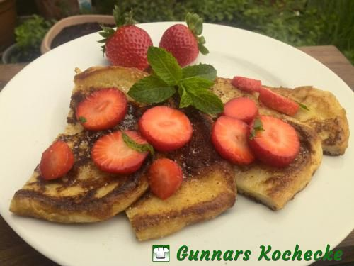 Arme Ritter mit Erdbeeren (French Toast with Strawberries) - #Rezept
