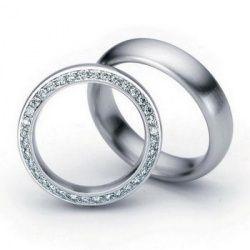 Обручальные кольца из белого золота, артикул №89 - купить по лучшей цене, описание, характеристики, фотографии Пара 32000