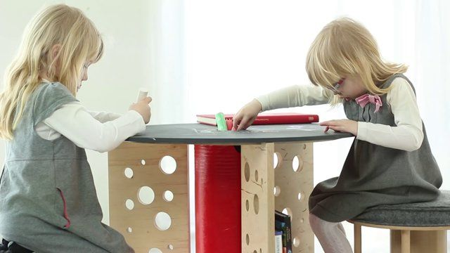 Children's table made from recycled cable reel   More: https://www.etsy.com/shop/Nanowo
