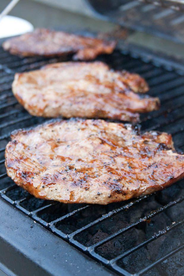 Recept karbonade met esdoorn siroop van de BBQ