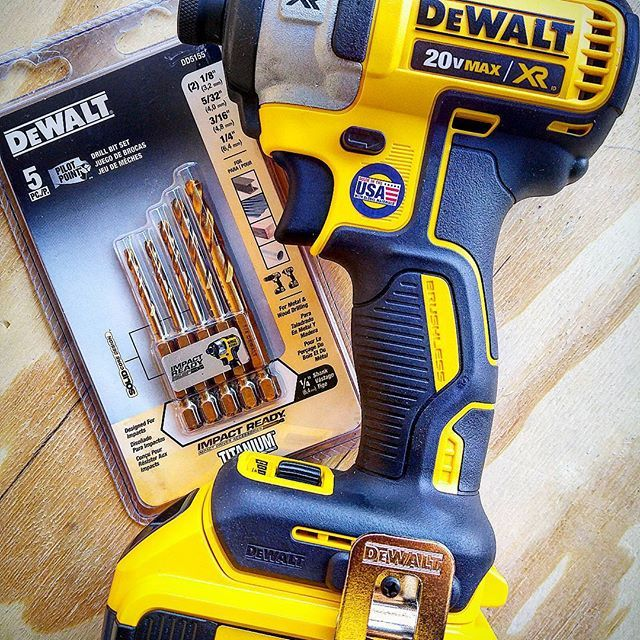 Pretty excited to try out these Dewalt impact ready titanium drill bits. I have the Milwaukee red helix impact rated bits and love them, so it'll be nice to compare these. #dewalt #dewalttough #yellow #tools #tool #dewaltcanada #powertools #impactdriver #woodworking #batteries #technology #blackandyellow #drill #drilling #milwaukeetools #red #nbhd @dewalt_ca @dewalttough #jrrusticdesign #toughinthenorth #puttoughtothetest