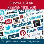 Türkiye'de kullanıcı sayısı 42 milyonu aştı …
