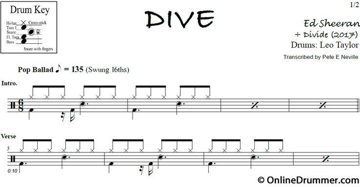 Best 25 drum sheet music ideas on pinterest drum music drum lessons and drum rudiments - Ed sheeran dive chords ...
