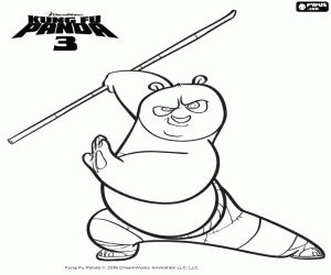 Po Is A Legendary Dragon Warrior In The Kung Fu Panda 3 Movie Come Check Out And Enjoy This Awesome Printable Master Coloring Sheet