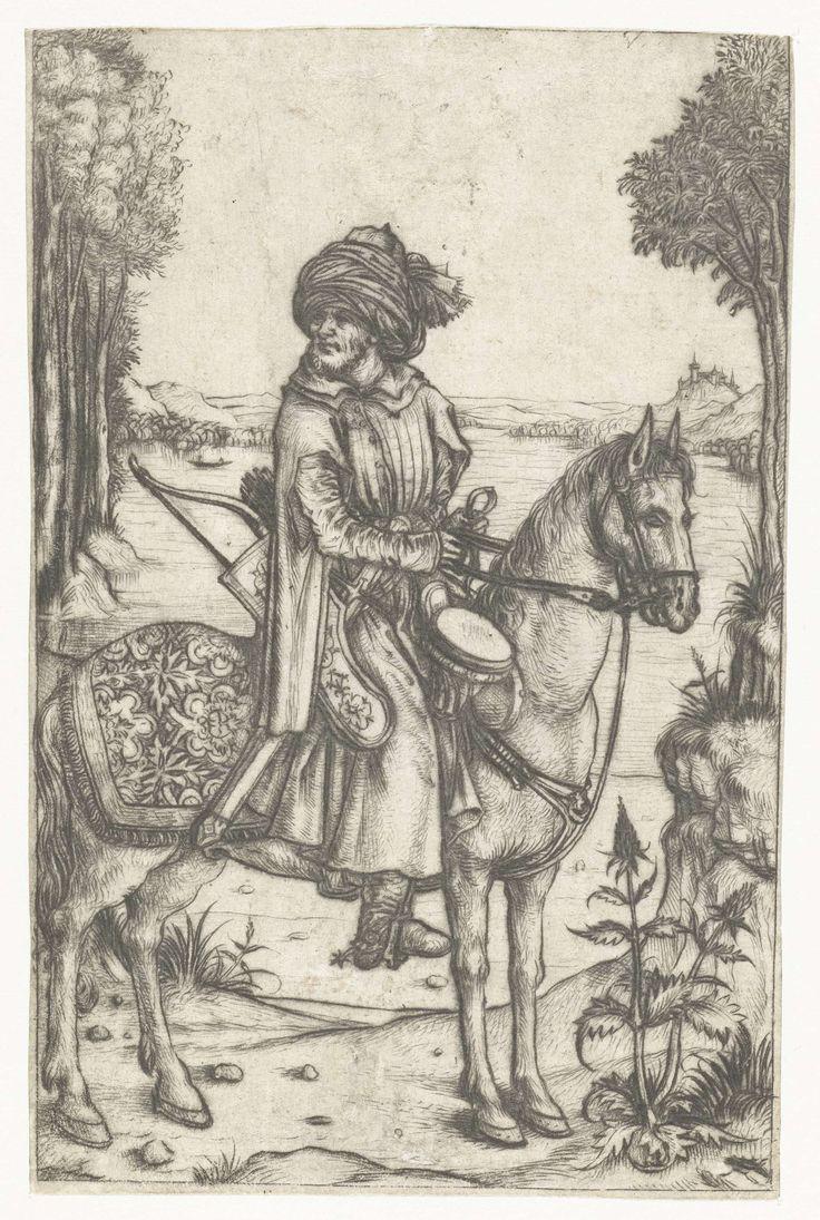 Turkse ruiter, Meester van het Amsterdamse Kabinet, 1488 - 1492