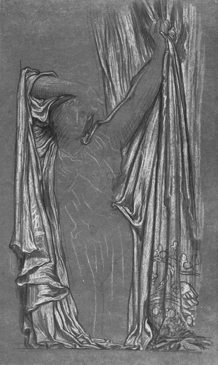 """Study of drapery for """"The Last Watch of Hero"""" by Lord Frederick Leighton #art"""