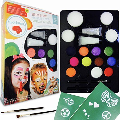 The Complete #Face #Paint Party Kit for Kids and Kids­ at­ heart  Are you a professional face paint artist looking for a perfect kit to make your craft even bette...