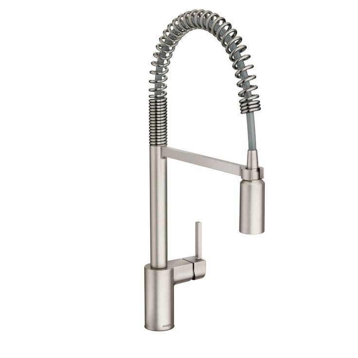 Moen Align Spot Resist Stainless Steel 1-Handle Pull-Down Kitchen Faucet
