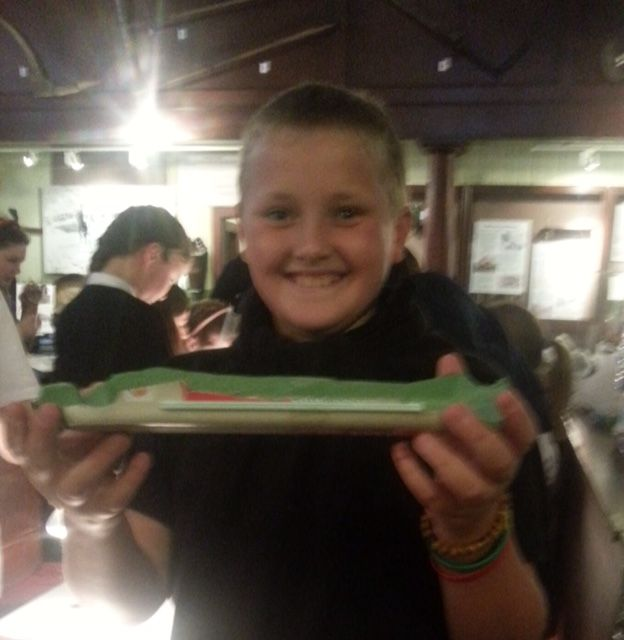 Klondyker boat made by Ullapool High School history student 28 Oct 2015