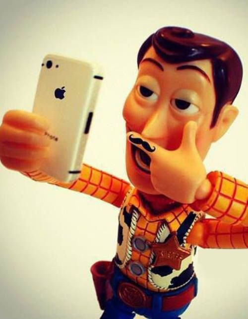 Toy Story Selfie — Moustache and all!