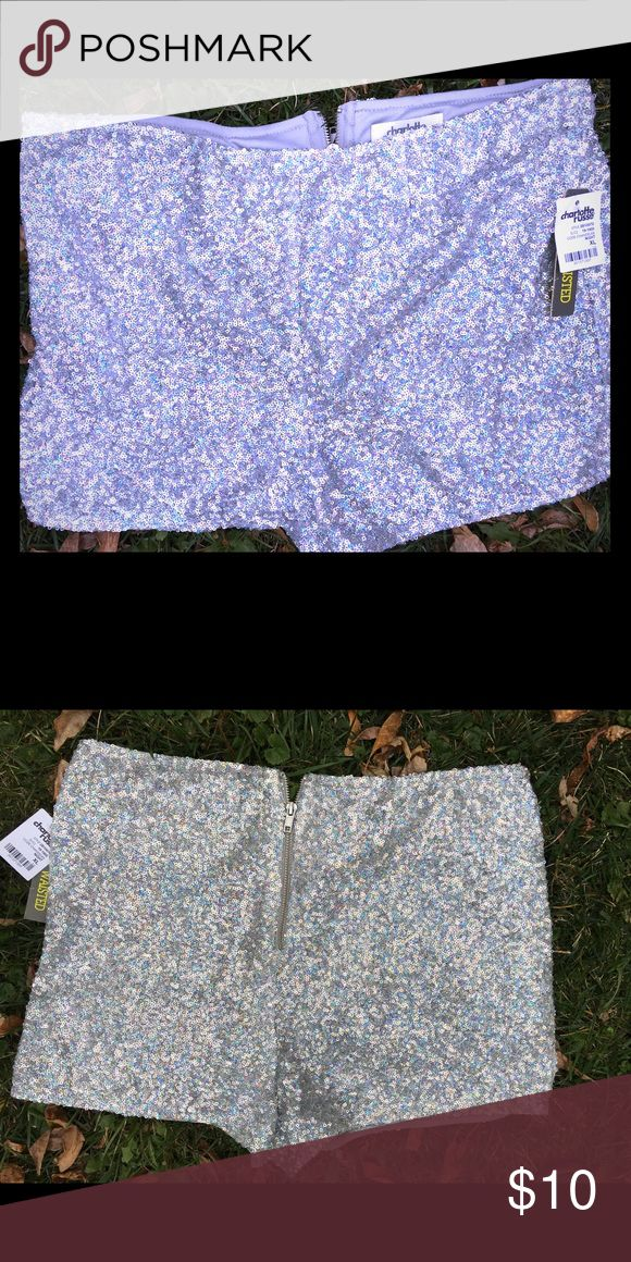 Sparkly shorts disco/shiny/flashy Awesome sparkly shorts def make a statement! Charlotte Russe Shorts Skorts