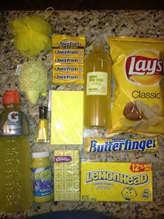 Cupcakes and Bling: Box of Sunshine and Neighbor Baskets