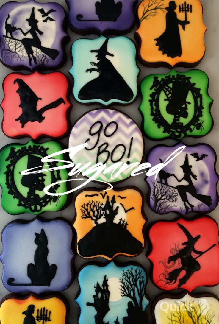 halloween cookies sugaredcookiesandsweetsinc - Halloween Cookies Decorating Ideas