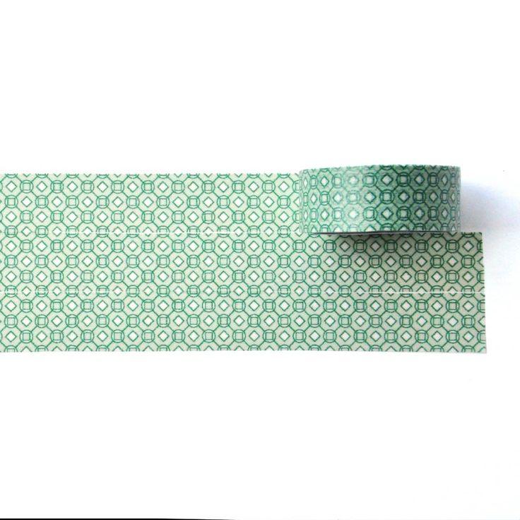 Green Mosaic Washi Tape | Design by Willwa