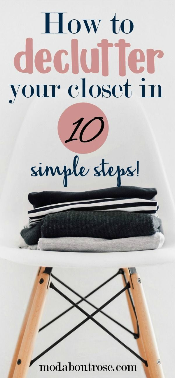 Minimalist closet. How to declutter your closet. Spring clean your closet.