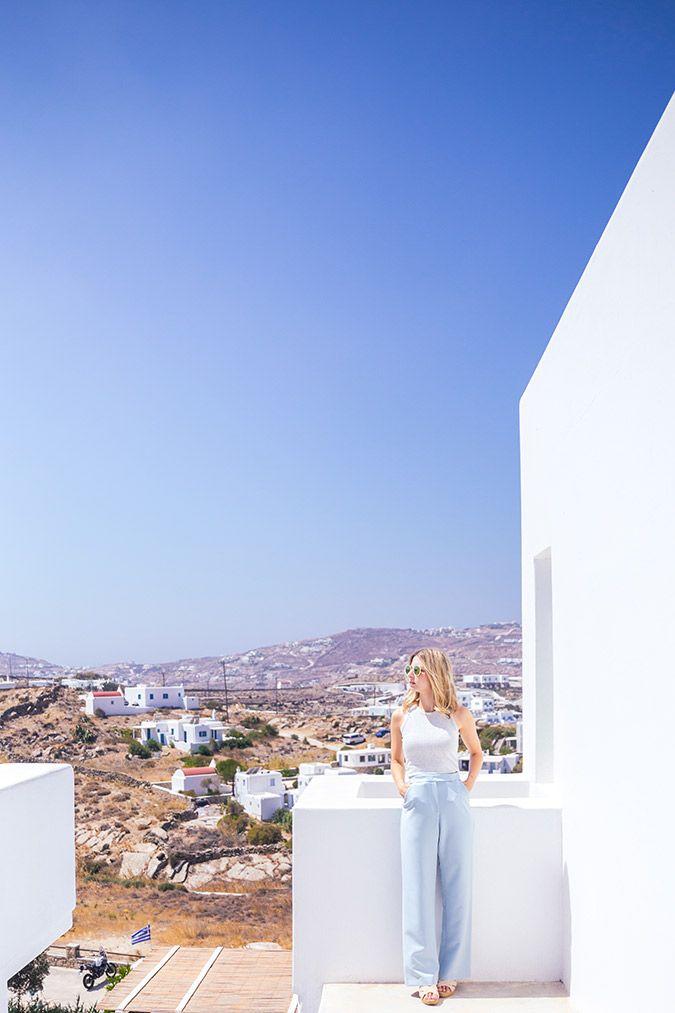 Views above Mykonos town