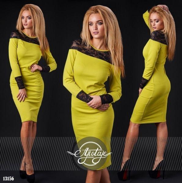 оливковое платье