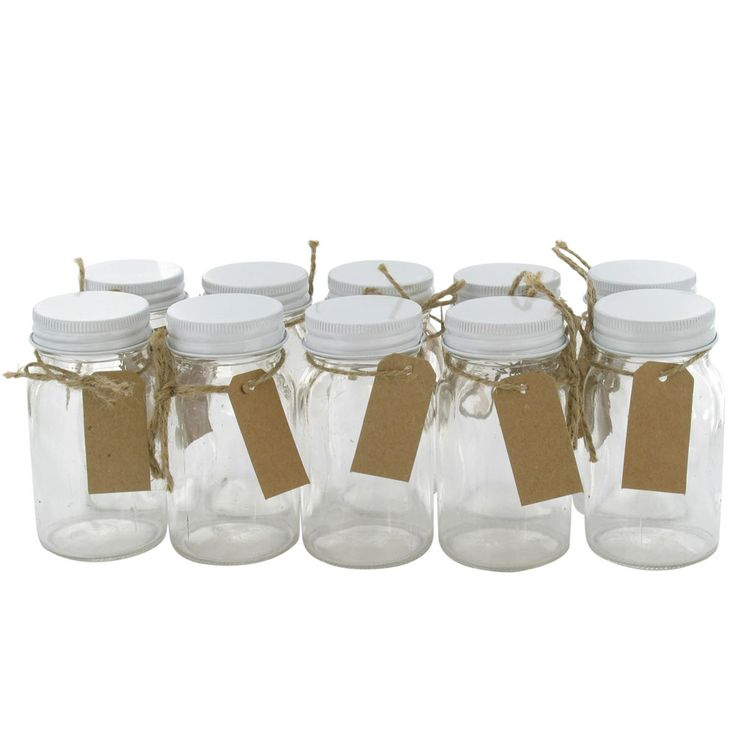 10 favour jars from Paperchase - these would be great filled with different colours of sherbert!