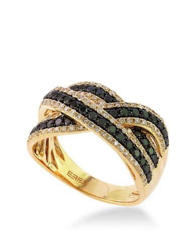Effy Black Diamond And 14K Yellow Gold Ring, 1.06 TCW | 40% OFF