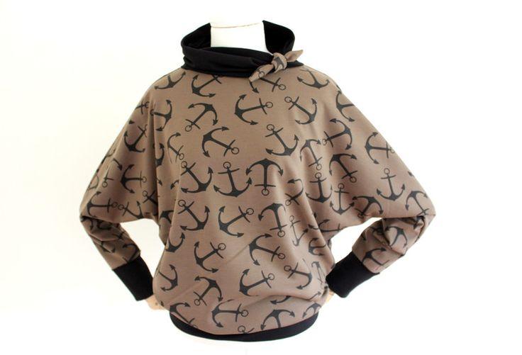 Fledermausärmelshirts - Anker Shirt - ein Designerstück von kleidzeit bei DaWanda