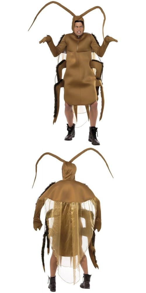 Men Costumes: Cockroach Costume Adult Mens Funny Gross Roach Bug Halloween Fancy Dress -> BUY IT NOW ONLY: $57.29 on eBay!