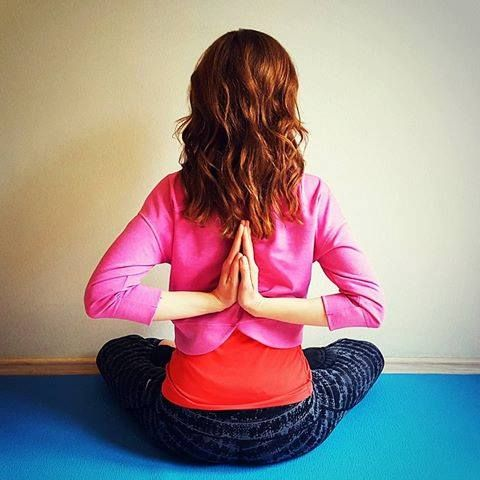 here is an interesting pose called reverse prayer pose