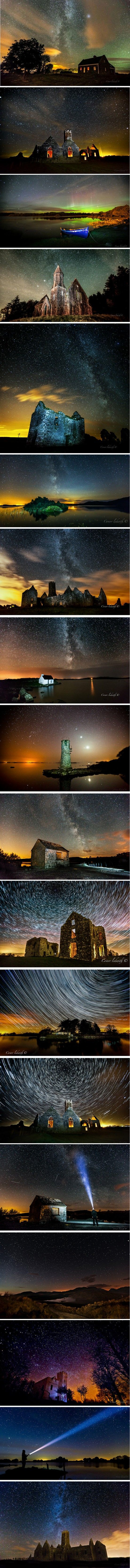 Irish Auroras and Milky Way Landscapes by Conor Ledwith