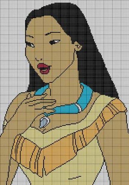 Pocahontas knitting or crochet chart!