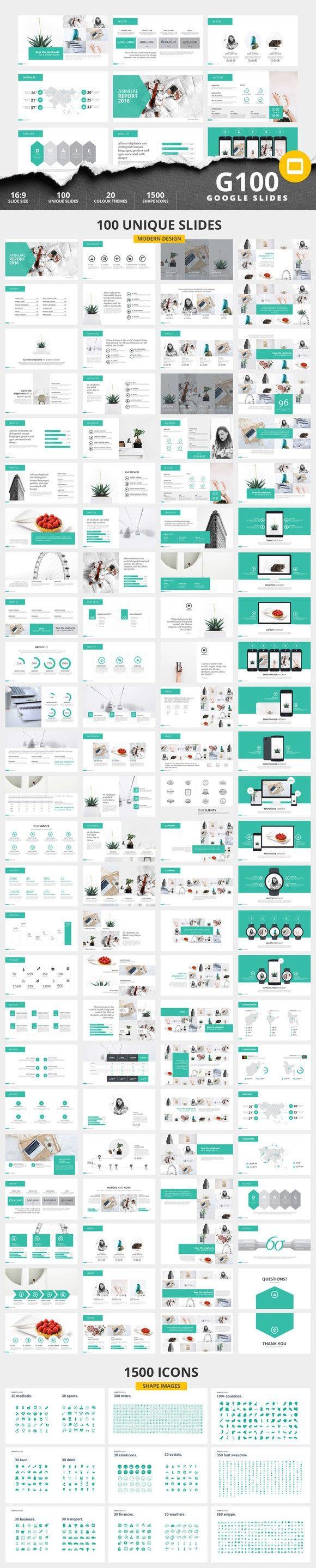 G100 Magazine GoogleSlides Template. Presentation Templates. $10.00