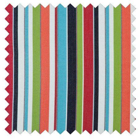 Sunbrella® Outdoor Cushions-Carousel Confetti Stripe