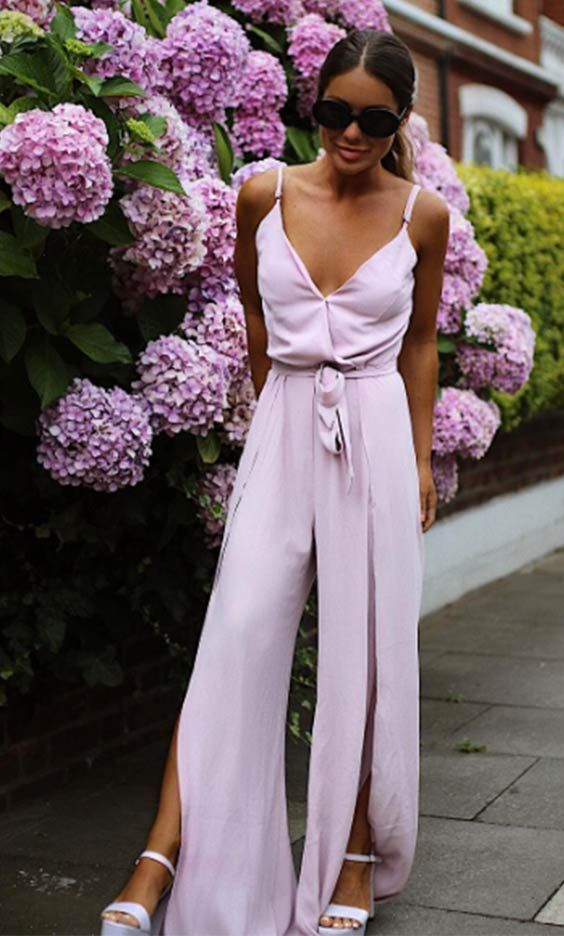 MIC's Louise Thompson rocking the SilkFred 'Split Leg Wrap Over Jumpsuit'.....celebrity, outfit, wedding, Made in Chelsea, party, event, inspo, street style, fashion, date night