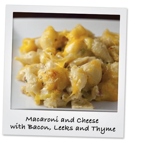 Macaroni And Cheese With Bacon, Leeks, And Thyme Recipe ...