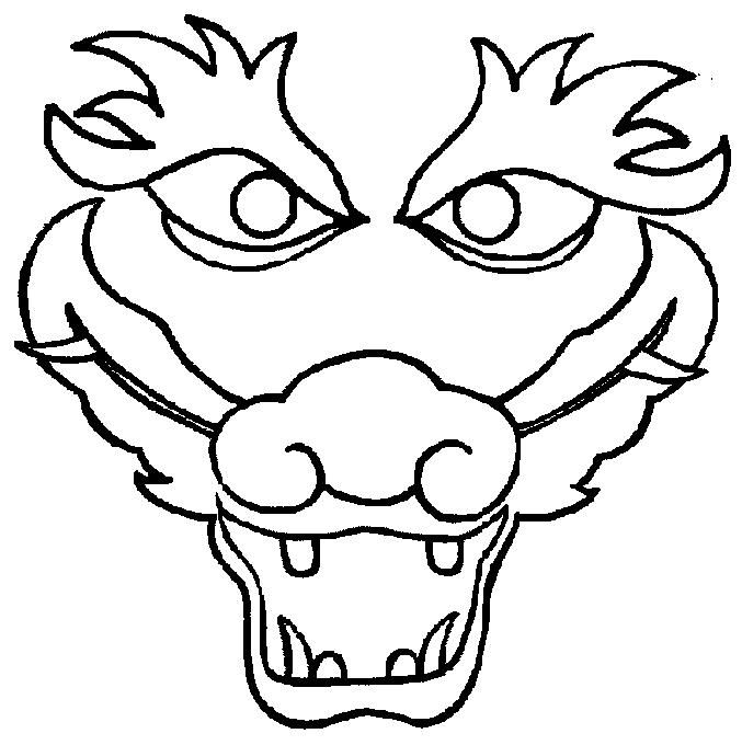 Chinese Dragon Mask Coloring Page Dragon Coloring Page Dragon Face Chinese New Year Dragon
