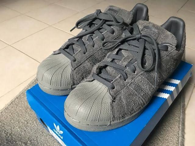 watch 54e81 16d0a Adidas Superstar Suede Gray BZ0216 | S h o e t a e n a in ...