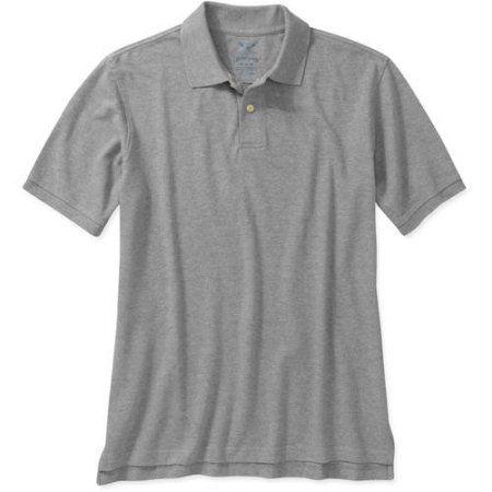 Faded Glory Big Men's Short Sleeve Polo, Gray