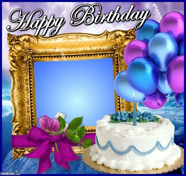 happy birthday frame from wwwimikimicom free birthday cards pinterest birthdays happy and happy birthday