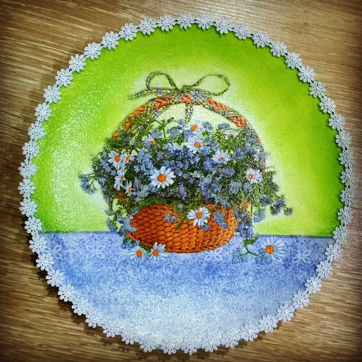 декоративная тарелка. #декупаж