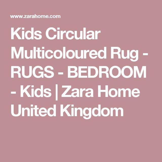 Kids Circular Multicoloured Rug - RUGS - BEDROOM - Kids | Zara Home United Kingdom