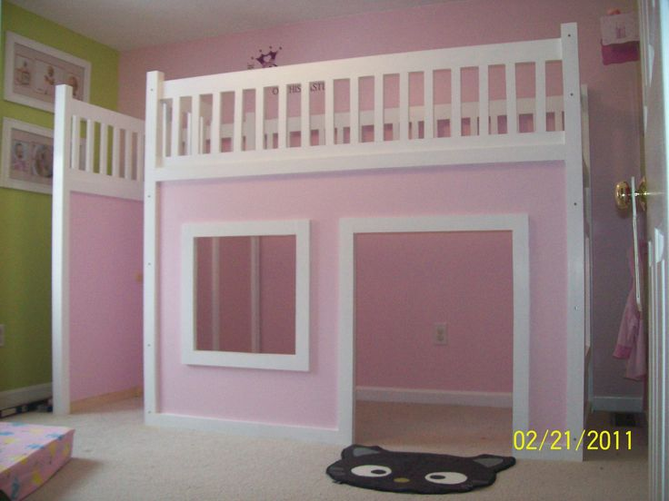 kidsroom-kids-rooms-ideas-inspiring-design-ideas-of-ikea-with-white-and-pink-colors-wooden-bunk-bed-combine-cream-floor-tiles-also-green-wall-paint-plush- ...