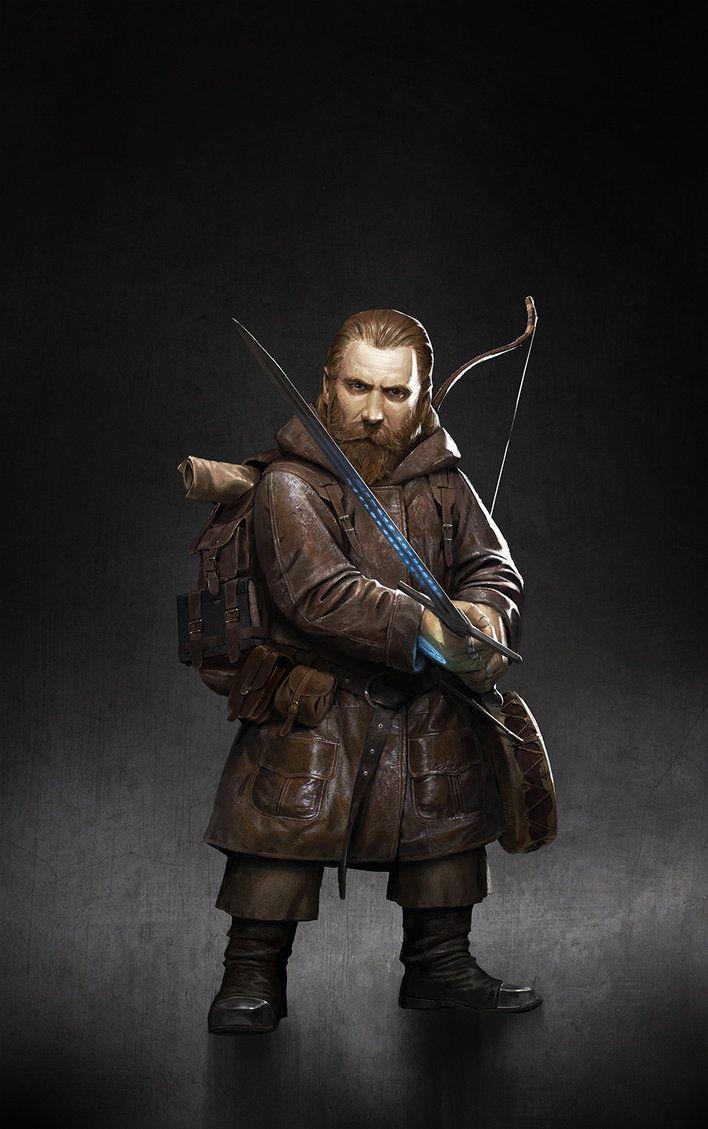 m Dwarf Bard Leather Sword Short bow backpack book Drum underdark traveler Mormund the Dwarf by ameeeeba