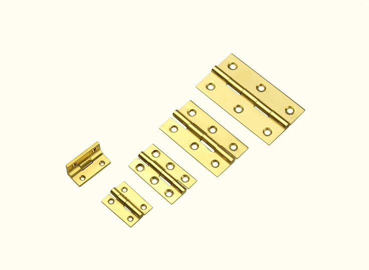 Hinge Butt Polished Brass 25mm Pk 2