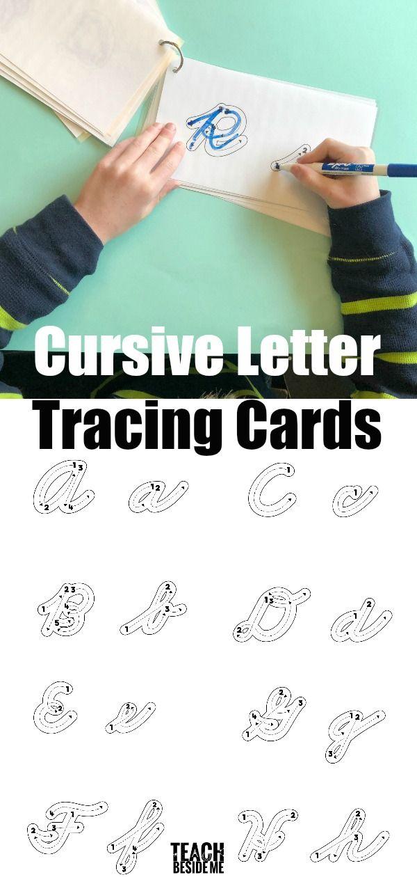 Cursive Letter Formation Tracing Cards 629 best