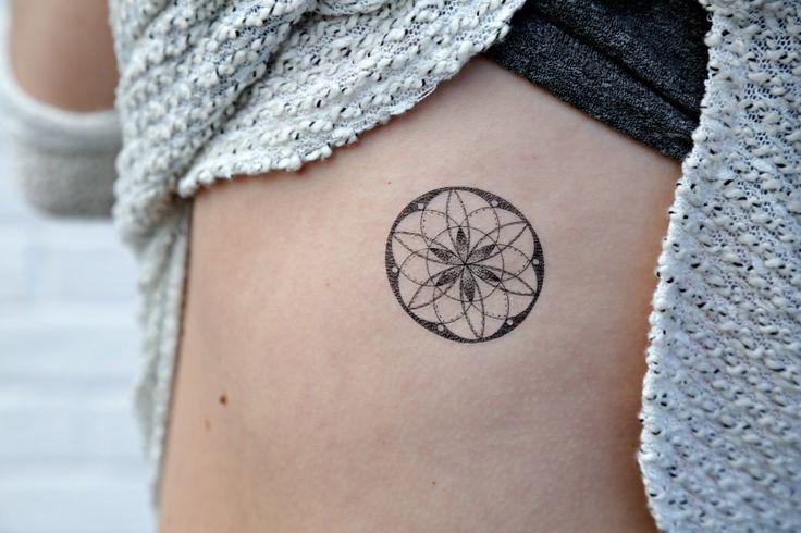 Geometric Temporary Tattoos Sacred Geometry by MerakiLabbe