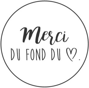 étiquettes: merci... thank you from the bottom of my heart