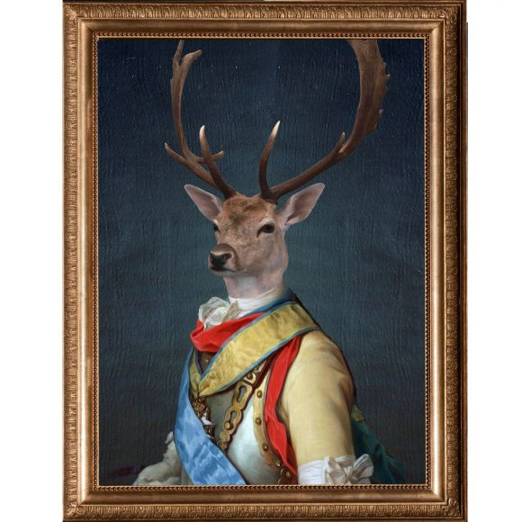 General stag canvas print