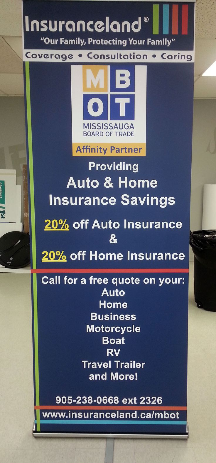 #Etobicoke Another fantastic #retractablebannerstand for #Insuranceland. #Mississauga