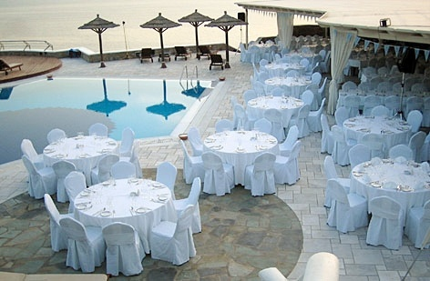 Gala set up around the pool - Mykonos Grand Hotel & Resort