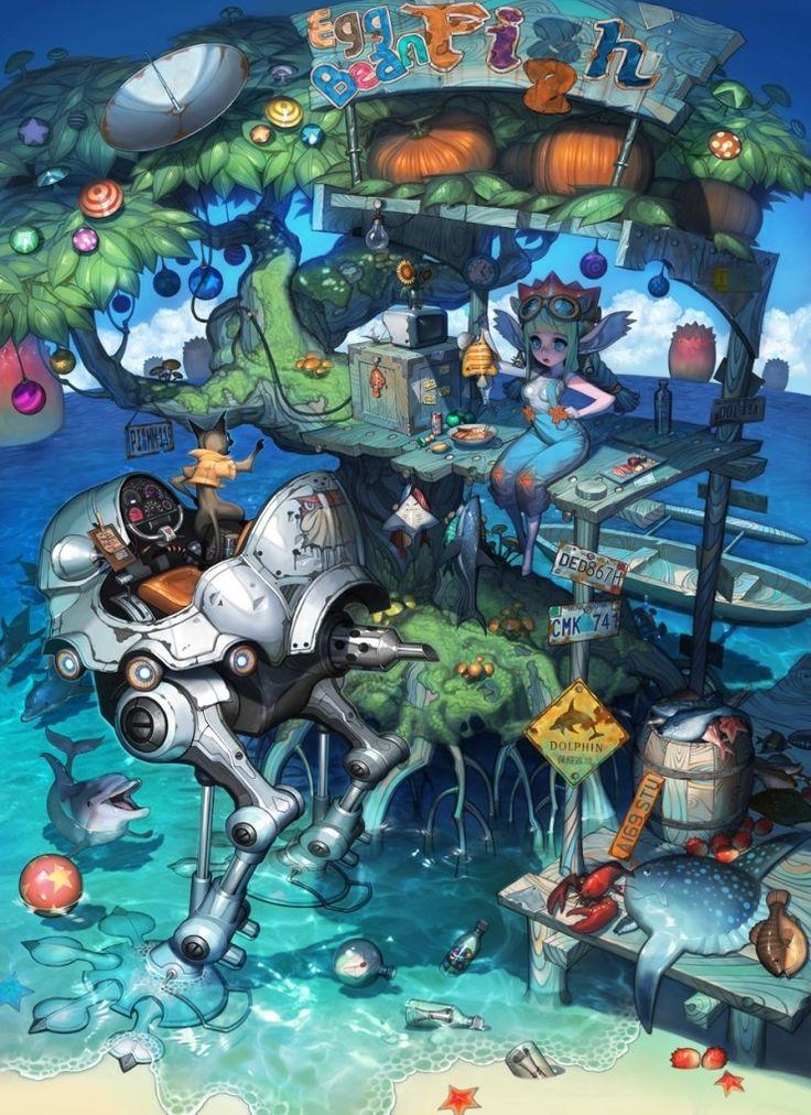 CG computer graphics ART에 있는 Kai님의 핀 컨셉 아트, 예술 및