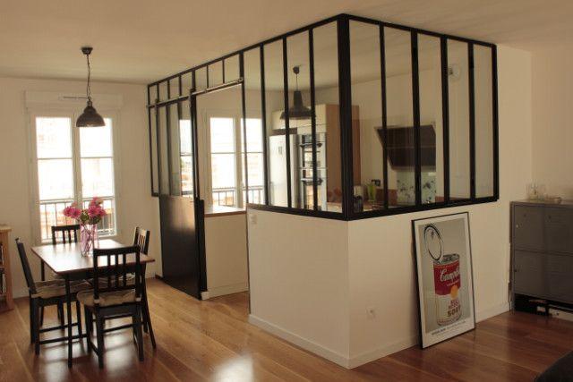 Kitchen veranda with sliding door - Verrières-d'intérieur - Ghislain